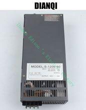 1200 W 60 V 20A Fuente De alimentación Conmutada para la Tira del LED luz de encendido entrada suply 110 v o 220 v 1200 w ac a dc fuente de alimentación s-1200-1260