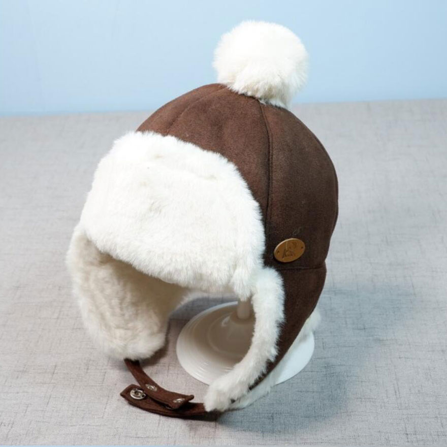 Bebé Niñas Niño Con Cordones Sombrero Sombrero De Aviador Infantil Algodón Earflap Cap recién nacido