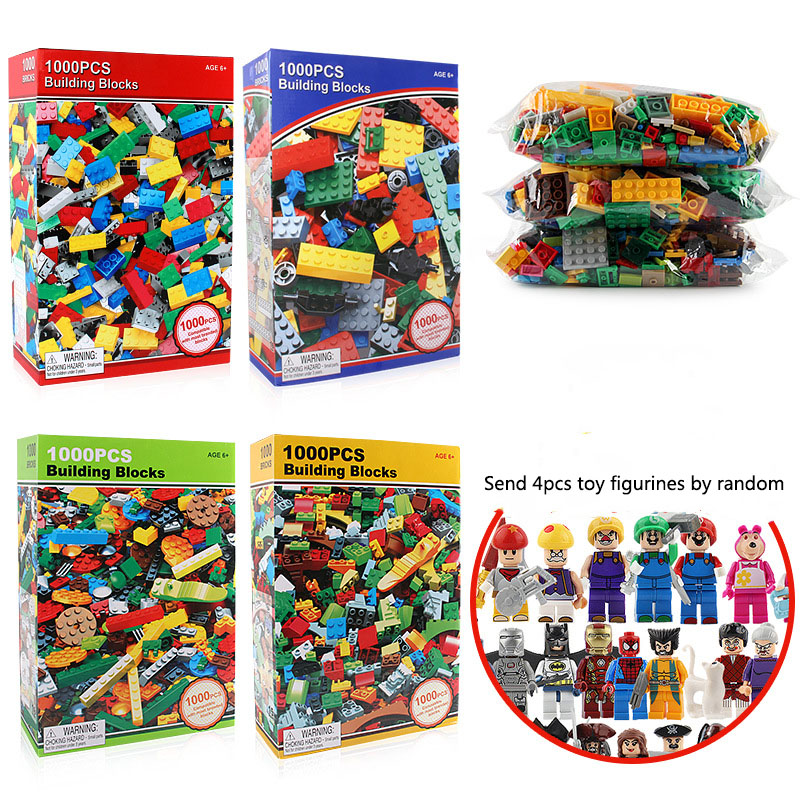 цена на 1000 PCS ABS Plastic Blocks Figures Toy For Kids Compatible With Legoe Minecraft City Building Blocks Set Education Boy Gift