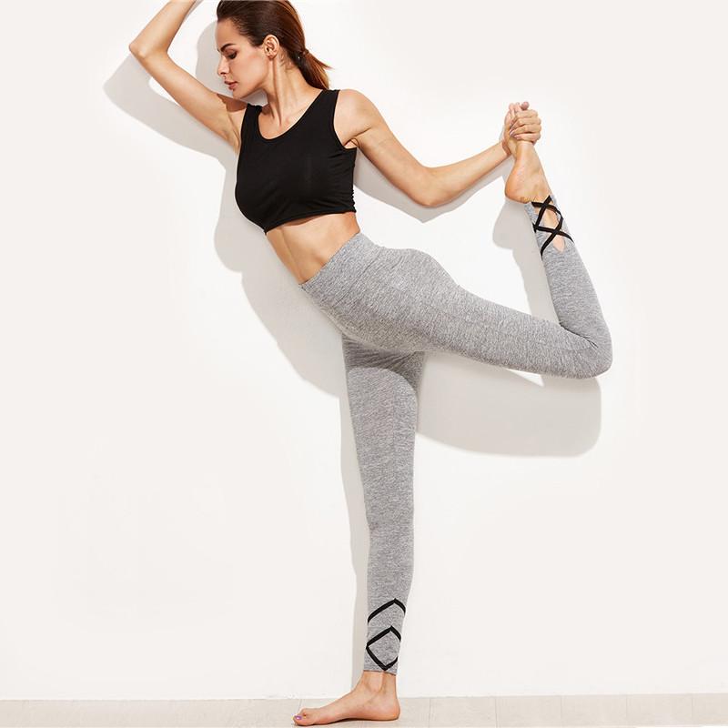Gray Workout Leggings for Women