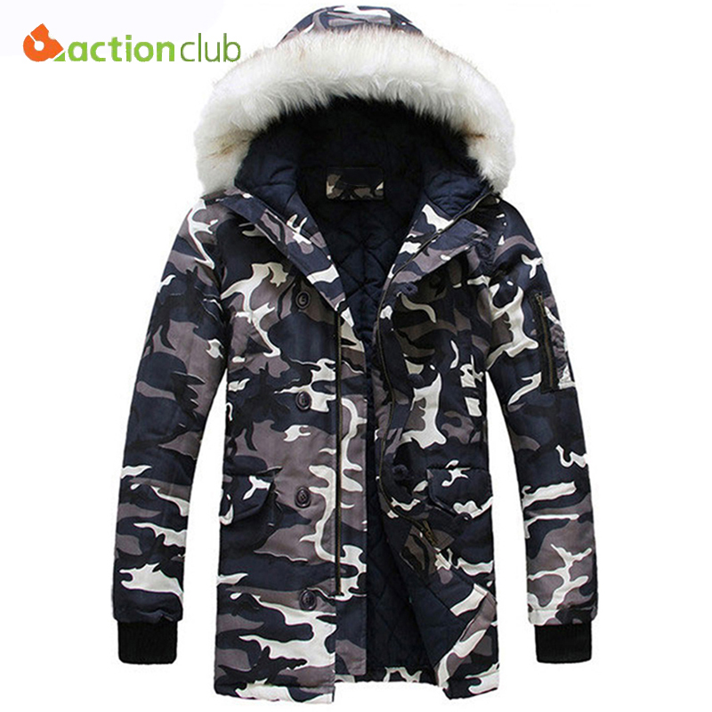 ФОТО ACTIONCLUB Men Camouflage Warm Thick Jacket Fashion Brand Winter Male Casual Parkas Jacket Coat Men Military Overcoat