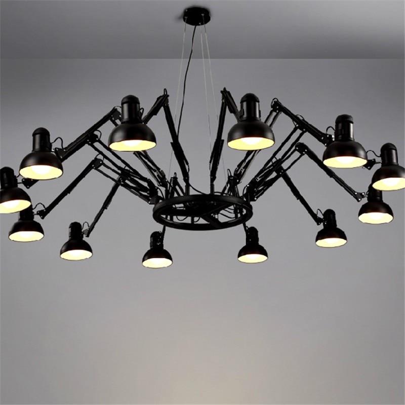 6 9 12 16 Lights Creative Spider Diner Pendant Lights With LED Bulbs Bar Studio Lamps