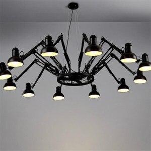 Image 1 - 6/9/12/16 ライトクリエイティブクモダイナーペンダントライト Led 電球バー/メーカーランプリモコンで送料無料