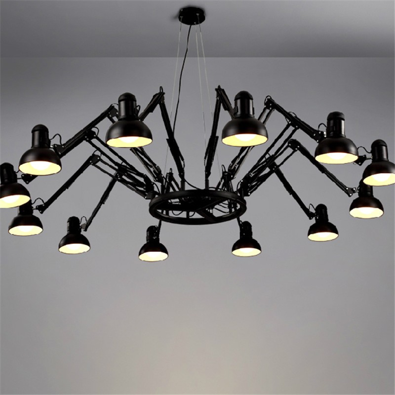 6/9/12/16 Lights Creative Spider Diner Pendant Lights With LED Bulbs Bar / Studio Lamps With Remote Control  Free Shipping zinuo dc12v 5pcs male 5pcs female 2 1x5 5mm dc power plug jack adapter connector plug for cctv single color led strip light