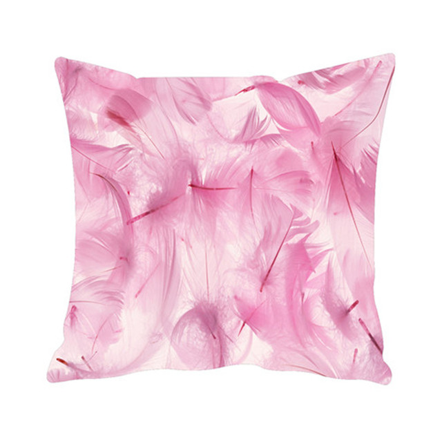 Genial Pink Feathers Sofa Cushion Cover Custom Floral Throw Pillow Covers  Decorative Linen Pillow Cases Home Decor
