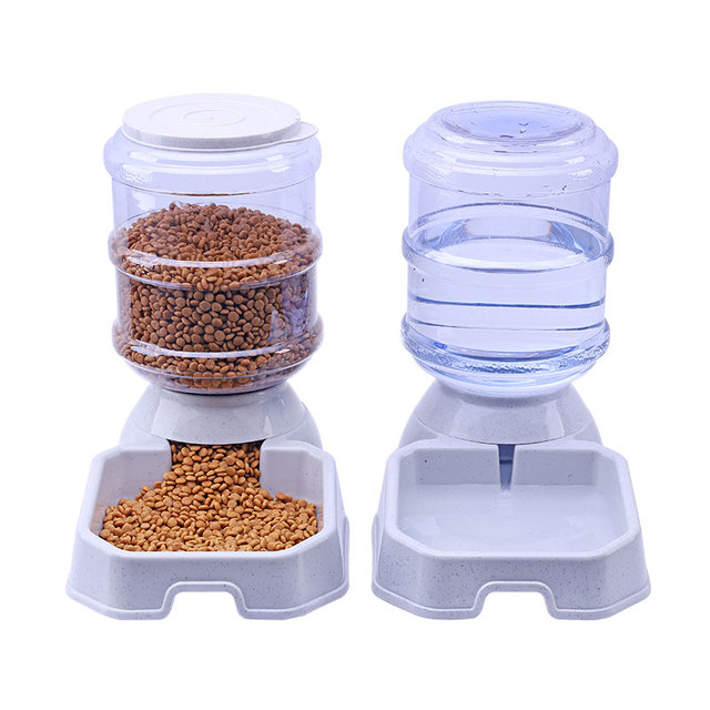 3.8L Pet Dog Cat Automatic Feeder Drinking Pet Food Water Bowl For Dog Automatic Drinkers Feeder Pet Dog Supplies Free Shipping 5