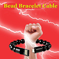 Beaded Bracelet USB Wear Bangle Cable Sync Data Transfer Fast Charger Speed Wire Fashion Accessories for iPhone 5 6 Samsung HTC