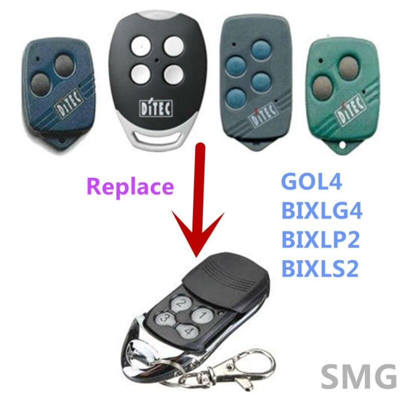 2 шт Бесплатная доставка ditec gol4, гол 4c, bixlp2 плавающий код гаражные ворота дистанционный пульт 433 мГц
