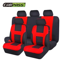 Car Pass Brand New Styling Front Rear Universal Car Seat Covers 9 Pieces/Set Luxury Auto Cute Pink Car Seat Covers