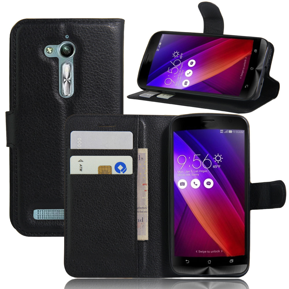 huge discount 8fe01 4b890 US $3.22 20% OFF|For Asus ZenFone Go ZB500KL Case 5.0 Wallet PU Leather  Back Cover Phone Case For Asus ZenFone Go ZB500KL ZB500KG Case Flip Bag-in  ...