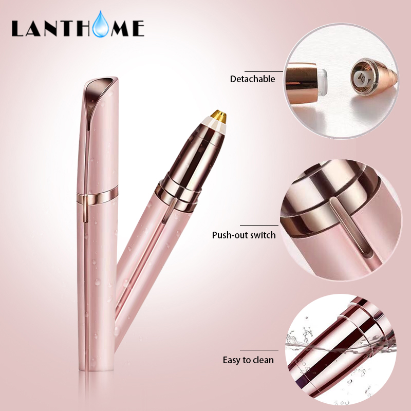 Electric Face Brows Hair Remover Epilator Mini Eyebrow Shaver Instant Painless Portable Eyebrow Trimmer Dropshipping flawless kaş bıyık tüy epilasyon aleti