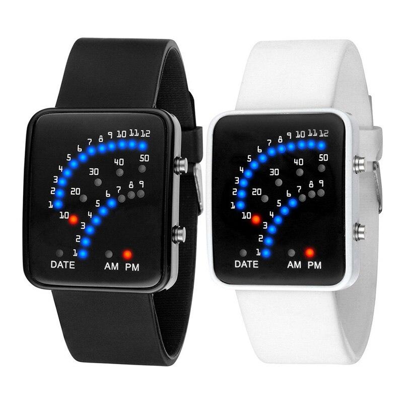 Zonnig Led Elektronische Polshorloge Sector Binary Digitale Waterdichte Mode Unisex Paar Horloges Ty66