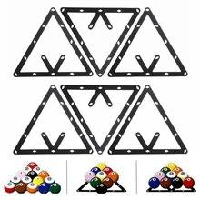 Mayitr 6 Stücke Dreieck Magic Ball Rack Positionierung Billard Pool Queue Zubehör Schwarz Sport Unterhaltung