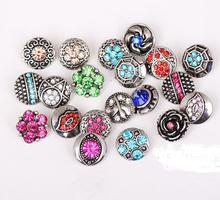 new fation  12mm small 100pcs/lot mix styles colors  button snap jewelry interchangeable ginger snap button charm все цены