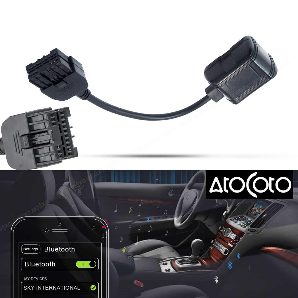 AtoCoto Car Bluetooth Module for Infiniti iPod Interface Wireless Audio Input Radio Stereo Adapter for Nissan 284H2-ZT50A