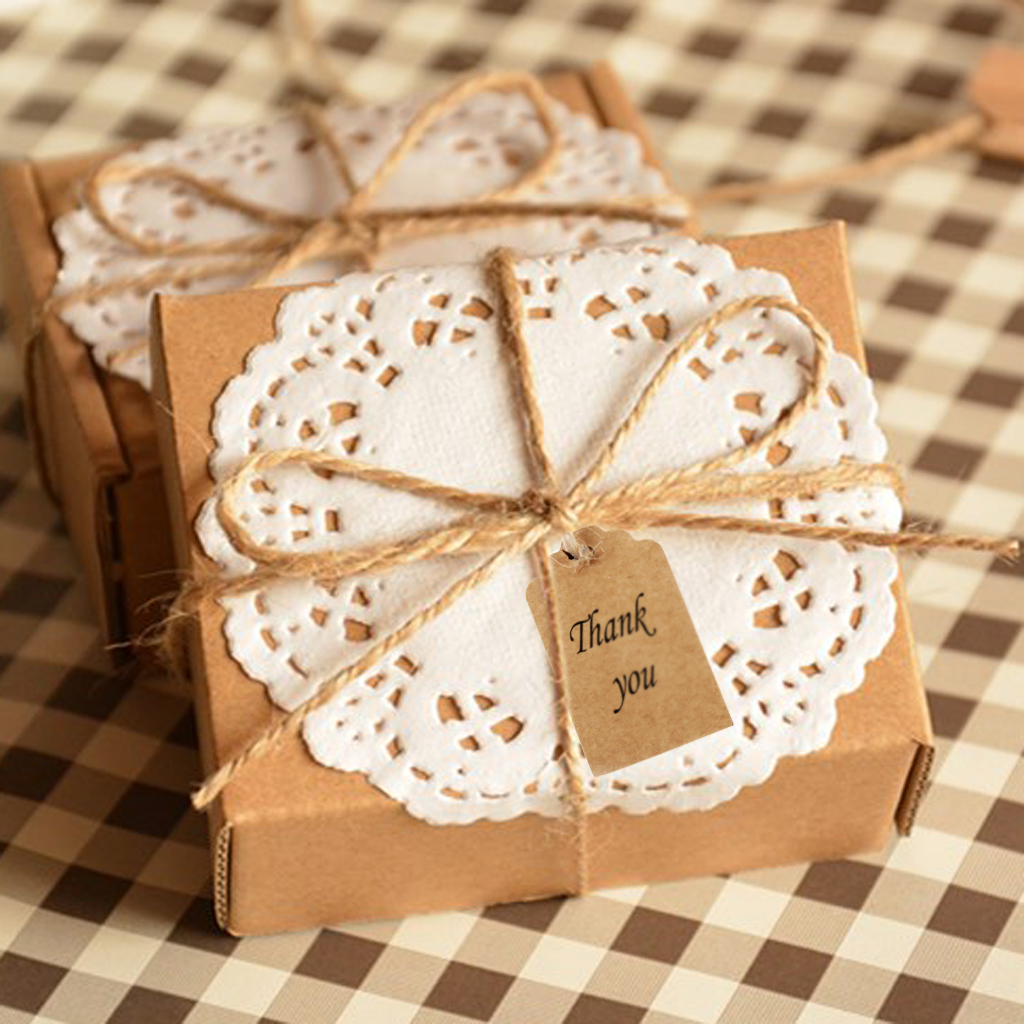 Phenovo 100pcs Kraft Paper Blank Card DIY Gift Tags Rectangle Label Luggage Wedding Note Hang Scrapbooking Price Tag Kraft Gift