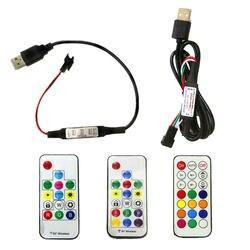 5 В в WS2812B SK6812 пиксель цифровой полный цвет RGB USB Беспроводной RF светодио дный LED контроллер с 3Key/14Key/17Key/21Key удаленного