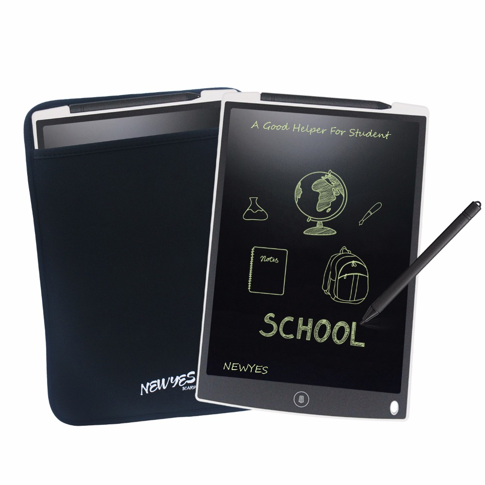 NEWYES Good Sale 12-inch LCD eWriter Paperless Memo Pad Tablet Writing Drawing Graphics Board  eWriter Notepad with Manget + Bag