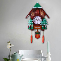 European Style Cuckoo Clock with Mute Movement, Vivid Bird Alarm Clock for Home Decoration