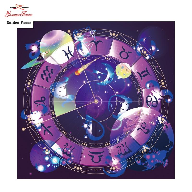 Golden panno,Full,DIY Diamond Embroidery,5D,Diamond Painting,Cross Stitch,3D,Diamond,Christmas,Needlework,Constellation map929