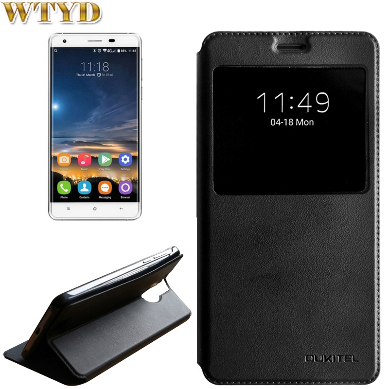 OUKITEL K6000 Pro Case Cover Protector Shell Horizontal Flip Solid Color Leather Case with Call Display