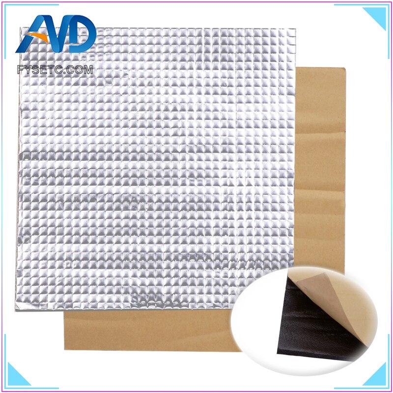 1 pc isolamento térmico algodão 200/300mm folha auto-adesivo isolamento algodão 10mm espessura impressora 3d aquecimento cama adesivo