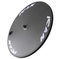 ICAN Logo 700C Clincher Disc Wheel For Road Bike 130 9mm Rear Spacing 3K Carbon Fiber