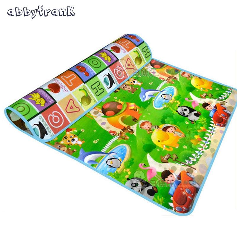 Abbyfrank Twee Side Alfabet Baby Speelkleed Fruit Dier Zuigeling - Speelgoed voor kinderen