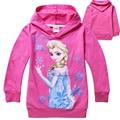 Cotton Fashion Girls Hoodies Sweatshirt Clothing Children Jacket Ice Queen Elsa and Anna Long Sleeve Tops Baby Kids Hoody Spring