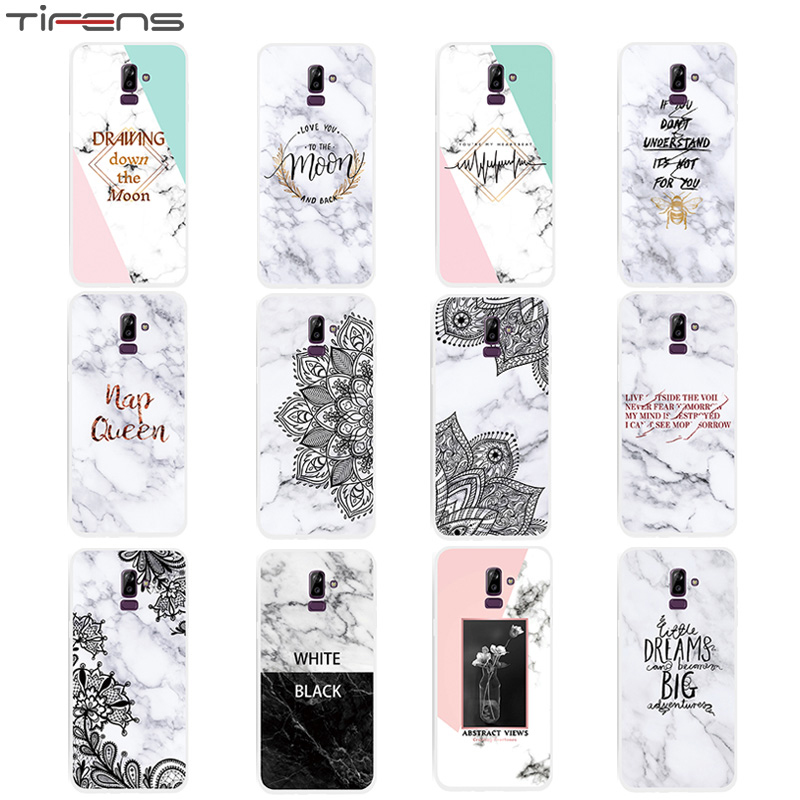 Marble J6plus Soft TPU Back Cover Case For Samsung Galaxy J2 Pro J3 J5 J7 2016 2017 J4 J6 J8 Plus 2018 EU Coque Etui Mujer Shell