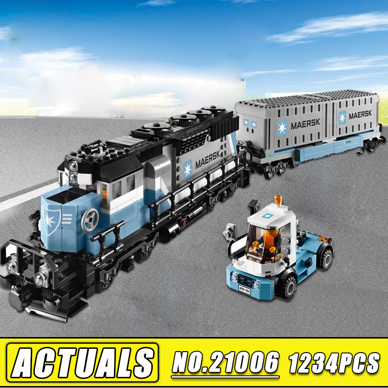 Bei Fen 1234pcs Lepin 21006 New Genuine Technic Ultimate Series The Maersk Train Set Building Blocks Bricks Kids Toys 10219 lepin 21006 compatible builder the maersk train 10219 building blocks policeman toys for children