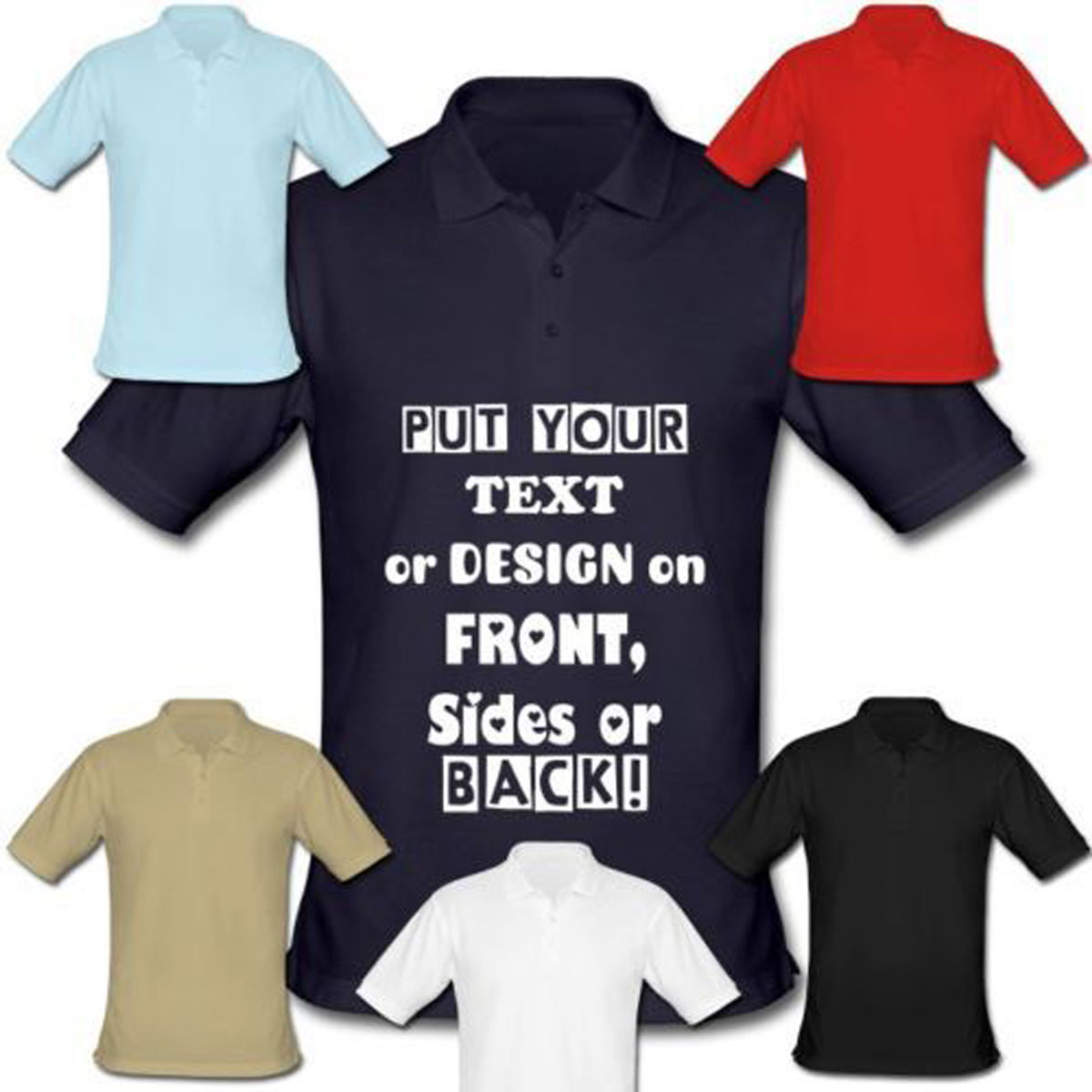 Custom Embroidered Mens T Shirts