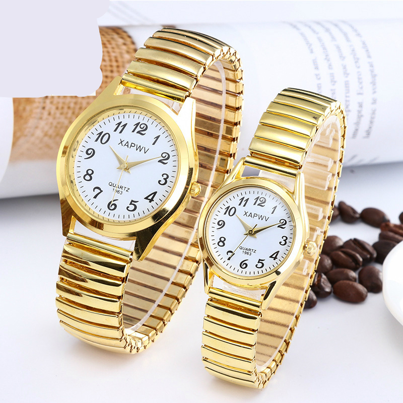 Classic Elastic Band Men's And Women's Watches Casual Steel Belt Watch Couple Watches Quartz Wrist Watch
