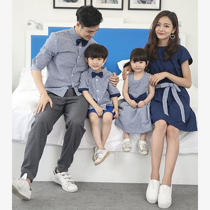 HTB1bd5jPVYqK1RjSZLeq6zXppXaJ - Family Matching Outfits Summer Fashion Plaid Shirt Outfits Mother And Daughter Dresses Father Son Baby Boy Girl Clothes