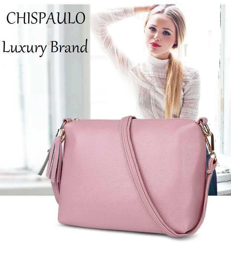 Chispaulo mulher saco 2019 marca designer bolsas de alta qualidade moda sacos de couro genuíno para mulheres mensageiro crossbody saco x59