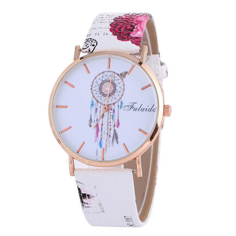 Watch Women Watches Relogio Feminino Fashion Crystal Leather Analog Quartz Female Clock Montre Femme 2018 #D