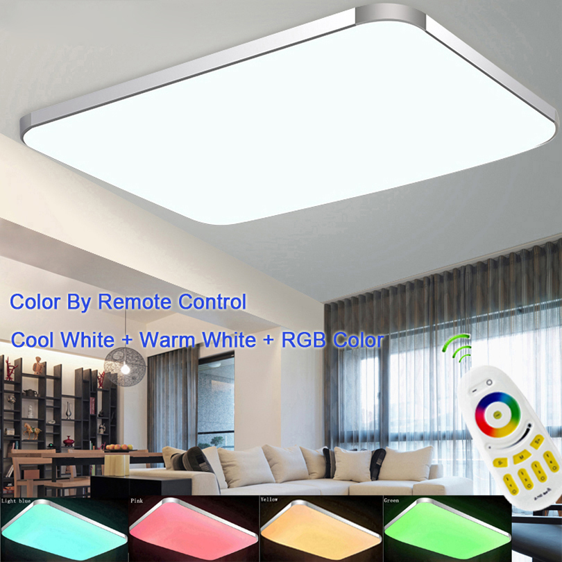 2018 Top Fashion Abajur Seven Colors of The Spectrum Plate Ceiling Light Rgb+cool White+warm Smart Led Lamp / for Living Room