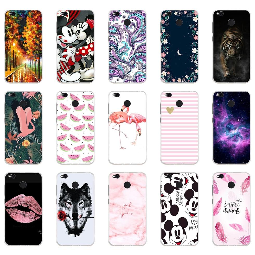 D Case For Xiaomi Redmi 4X Cover Cute Bags Soft Silicone TPU Cover For Xiaomi Redmi 4X Case For Redmi 4X  Phone Cases