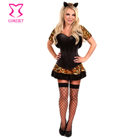 2016 Hot Sale Sexy Dress Costume Halloween Funny Lion Tiger Leopard Animal Corset Lingerie For Women
