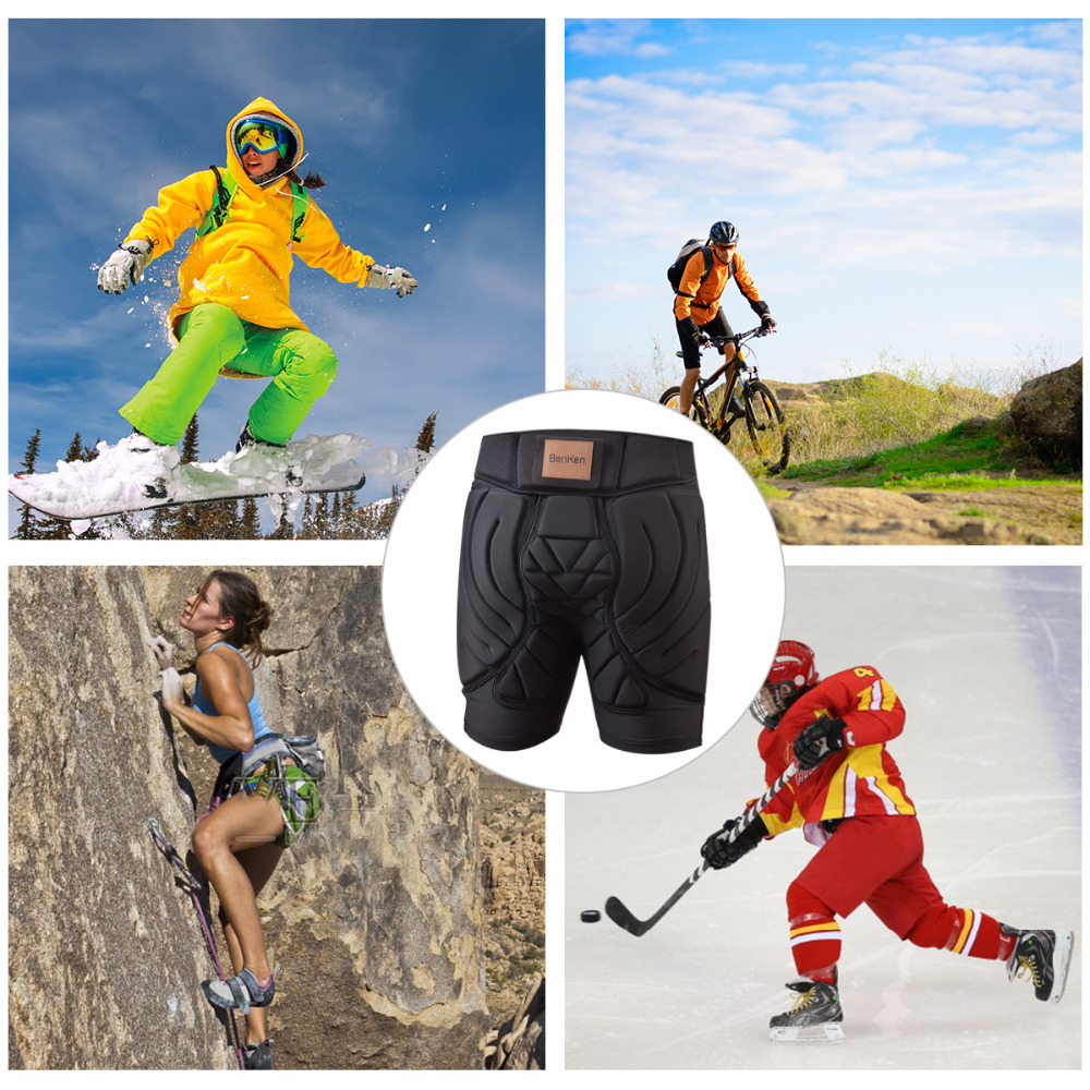BenKen Ski Butt Pants Hip Protection Butt Guard for Skateboarding Skiing Riding Cycling Snowboarding Overland Racing Armor Pads 39