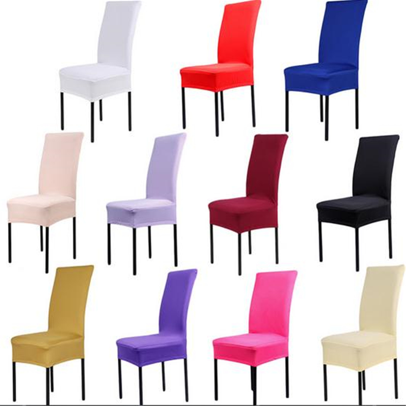 stretch chair covers australia linen chairs for sale 1 pcs 65 45 40cm 6 colors polyester spandex dining wedding party cover brown seat in from home