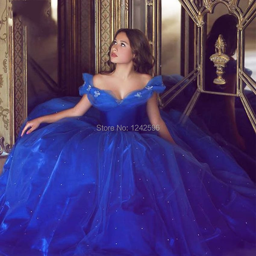 dd237d69dc52 Cinderella Royal Blue Quinceanera Dresses Butterfly 15 Birthday ...