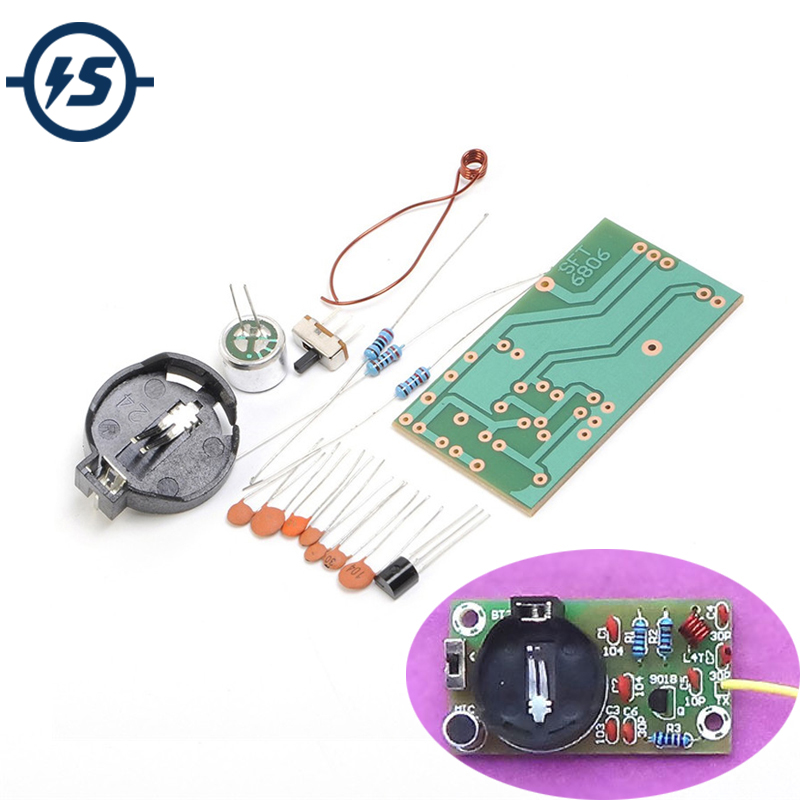 Electronic DIY Kit FM Transmitter Module Frequency Modulation Wireless Microphone Board Parts Kits Simple Production Suite