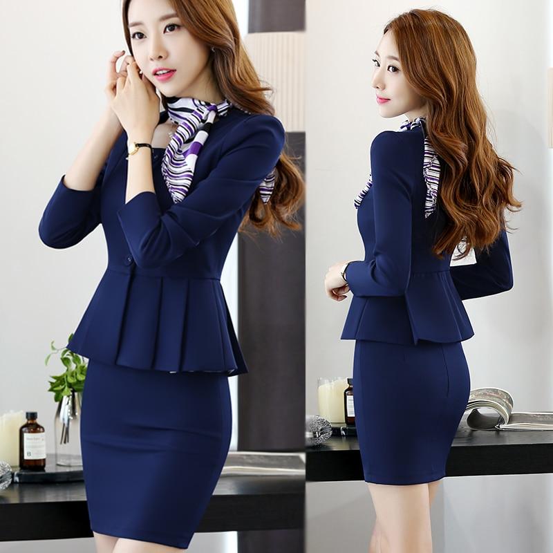 New office OL Business Outfits Suit Women's Suit Blazer Coat + Short Skirt Two Pieces Beautician Leisure Skirt Suit все цены