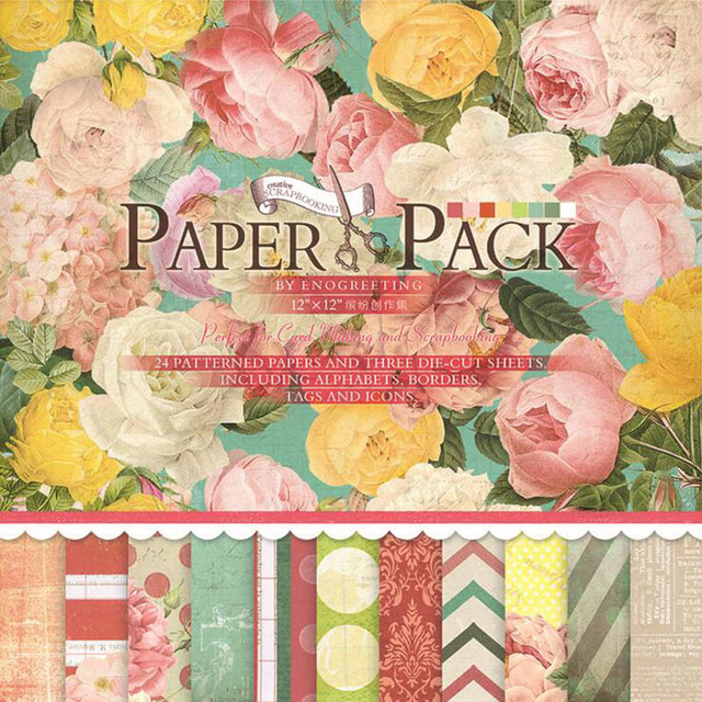 24 Sheets 305 305mm Handmade Craft Paper Craft Background Pad