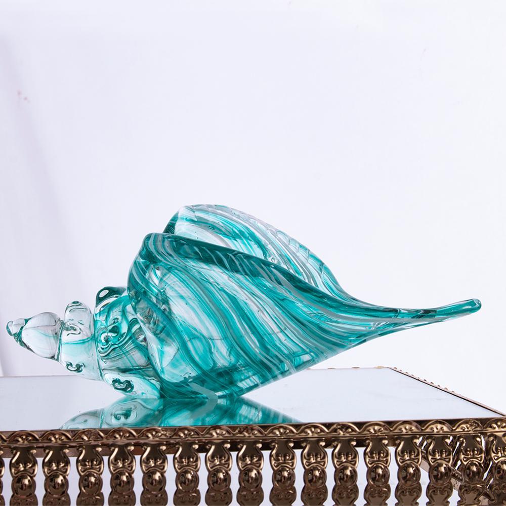 H & D Murano soufflé tourbillon conque Shell Figurines miniatures plage Animal fait main verre Art naturel à collectionner cadeau Table décoration