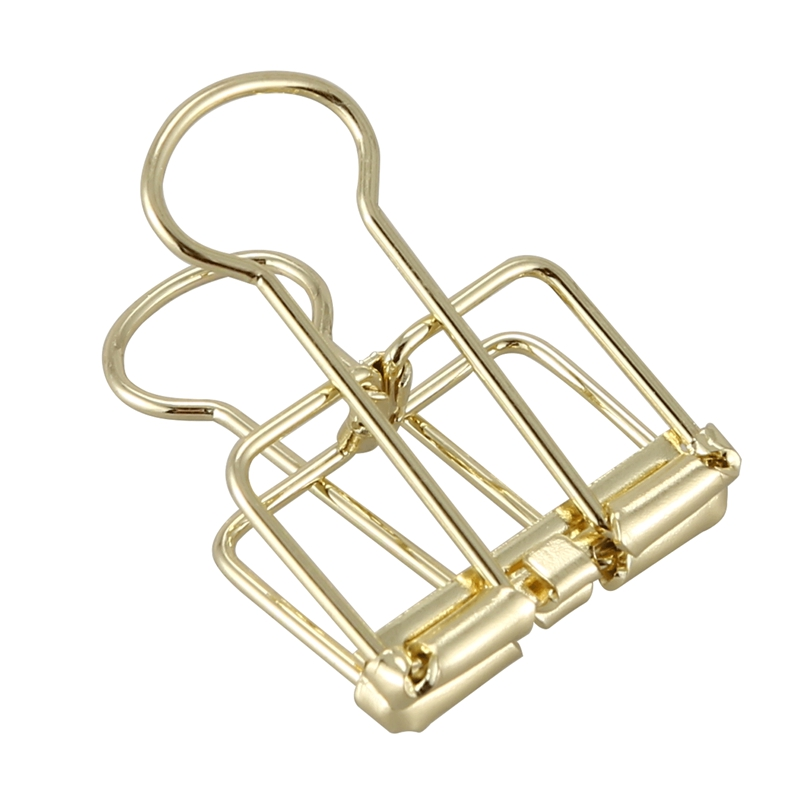 Creative Wire Binder Clips 12 PCS Reusable Paper Clips Small Skeleton Clips With Good Elasticity Strong Grip For Your Document