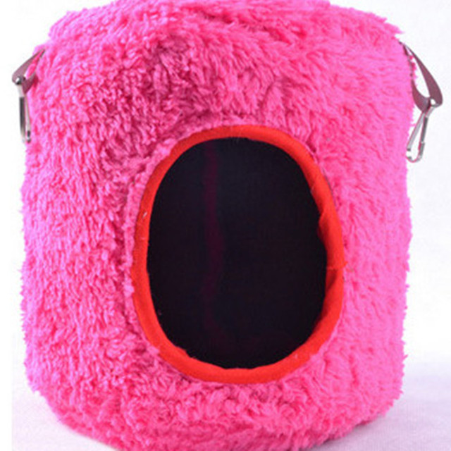 Hammock for Rat Hamster Bird Parrot Ferret Rabbit Squirrel Hanging Bed Toy House(colours send by random)