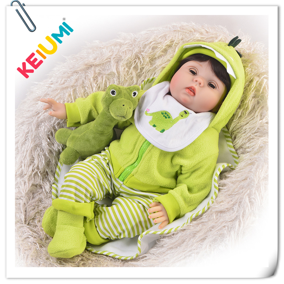 KEIUMI Fashion Silicone Reborn Baby Doll 55 cm Realistic 22 inch Reborn Boneca Can Blink Eyes DIY Toys For Kids Birthday GiftsKEIUMI Fashion Silicone Reborn Baby Doll 55 cm Realistic 22 inch Reborn Boneca Can Blink Eyes DIY Toys For Kids Birthday Gifts