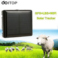 DOITOP Solar Animal GPS Tracker Never Power OFF Locator For Pet Cow Sheep Remove Alarm Real